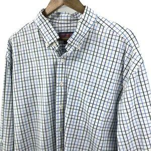 Vineyard Vines Plaid Button Up Shirt White Sz 2XL